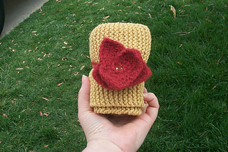 flower pin - dishcloth