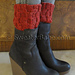 #149 Easy Cabled One-Ball Boot Cuffs pattern