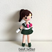 Sailor Jupiter School Girl Anime Doll pattern