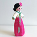 Hana in a Hanbok, International Doll (Korean) pattern