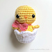 Baby Chick in Easter Egg pattern
