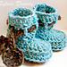 Dancing poppies Baby booties pattern