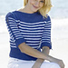 Nautical Stripes Boatneck Pullover pattern