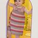 Little Bow Peep Striped Dress pattern