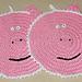 Pig Potholder or Towel Topper pattern