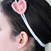 Two Strand Headband with Heart pattern