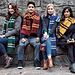 Hogwarts House Scarves pattern