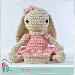 Classic Crochet Bunny Pattern for Easter - One Dog Woof | 319x320