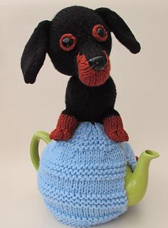 sausage dogdauschund fabric Tea cosy