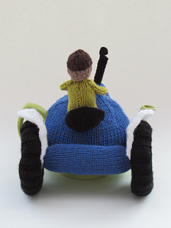 knit your own Tractor Tea cozy Blue Ford Tractor Tea Cosy Knitting Pattern