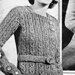 Jumper in thick wool pattern