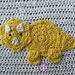 Triceratops Applique pattern