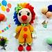 cute clown pattern