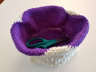 Use as notions basket.