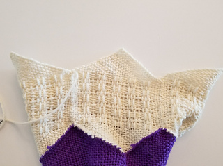 Sew the tips of the lace hexagons together the same way.
