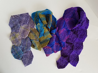 """Color development from one skein of """"uneek"""" worsted."""
