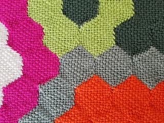 """The detail shows how nicely the hexagons merge. Great for """"quilt"""" making!"""