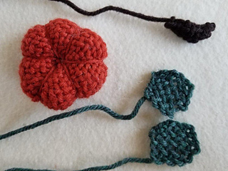 You could substitute the woven leaves and stem with felt pieces and/or a piece of twig for the stem.