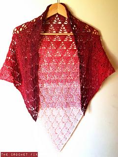 Triangle Lace Shawl pattern by The Crochet Fix - Ravelry