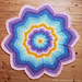 Spoke Flower Blanket pattern