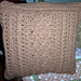 Cabled Couch Cushion pattern