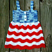 Red White and Blue Jean Dress pattern