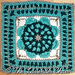 Sunflower Mandala Square pattern