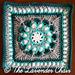 Morning Glory Mandala Square pattern