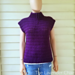 Crossed Double Cowl Neck Vest pattern
