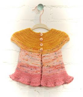 Rosebud - Free Baby Cardigan Knitting Pattern
