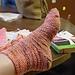 Honey of a Hurricane Socks pattern