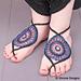 Basanti: A Mehndi Inspired Barefoot Sandal pattern
