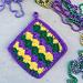 Mardi Gras Pot Holder pattern