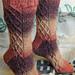 Argyle Trellis Wooly Socks pattern