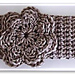 Knotted Knitlook Headband with Flower Trim pattern