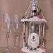 Champagne Birdcage Wedding Wine Bottle Decoration pattern