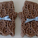 Fingerless Gloves with Cable & Eyelet Design pattern