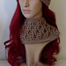 Hat with Cable & Eyelet Design - Slouch or Beanie pattern