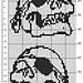 Totenkopfschal pattern