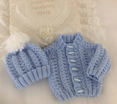 Knitting Pattern Baby Cardigan Sweater Instructions in English Sizes Newborn to 24 months