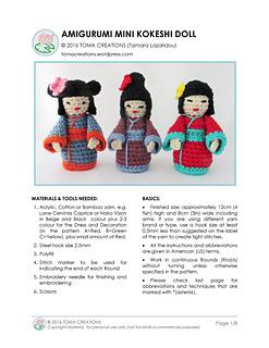 Japanese doll. | Crochet dolls free patterns, Crochet fairy ... | 320x247