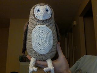 A barn owl pattern in progress   Son's Popkes   240x320