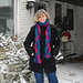 Four Color Braided Reversible Scarf pattern