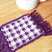 Gingham Mug Rug Coaster pattern