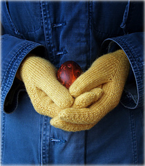 Gloves with egg