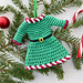 Holiday Dress Ornament Christmas pattern