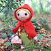 Red Riding Hood amigurumi doll pattern