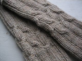 Jen's Cabled Mitts