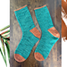 Copper Conifer Socks pattern