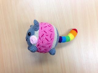 Amigurumi Nyan Cat Scarf Pattern | Cat scarf pattern, Cat scarf ... | 240x320